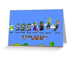 The Evolution of Luigi Greeting Card