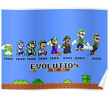 The Evolution of Luigi Poster