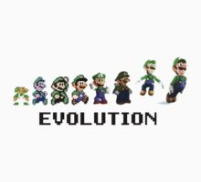 The Evolution of Luigi One Piece - Long Sleeve