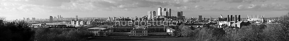 London City view from Greenwich Observatory by huegostudio