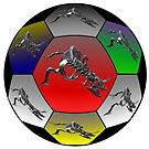Dinosaur Soccer Ball Pattern by Keith Richardson