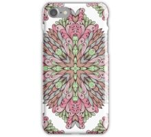 Geometric pattern with hand drawn ornamental rectangles iPhone Case/Skin