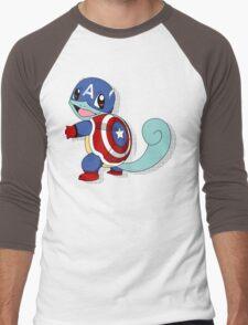 CaptainSquirtle Men's Baseball ¾ T-Shirt
