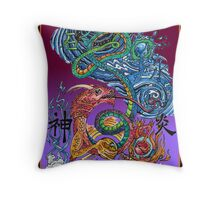 Elemental Dragon (Illustration)- Throw Pillow