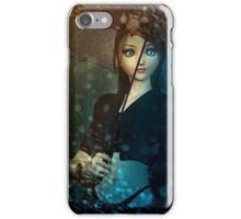 Girl in snowstorm iPhone Case/Skin