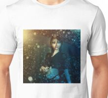 Girl in snowstorm Unisex T-Shirt