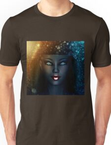 Girl in snowstorm 2 Unisex T-Shirt
