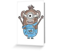 Monkey Minion Greeting Card