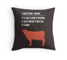 Moo Point - Joey Tribbiani Throw Pillow