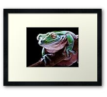 Electric Frog Framed Print
