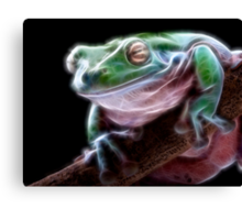 Electric Frog Canvas Print