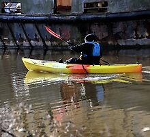 Lady Rower at Exeter Devon.UK by lynn carter