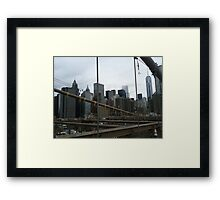 Brooklyn Bridge :) Framed Print