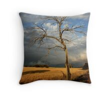 dead tree /clearing storm Throw Pillow
