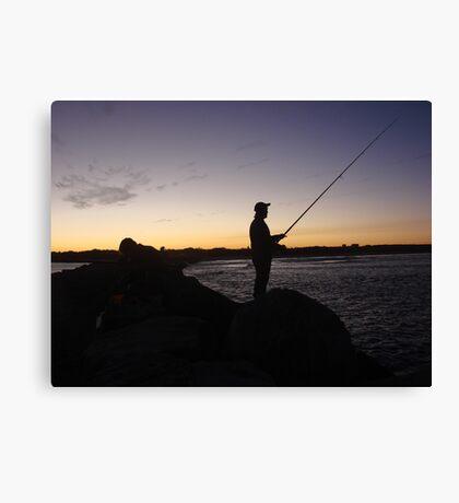 Me-Fishing Silhouette Canvas Print