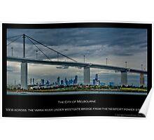 Melbourne & Westgate Bridge Poster