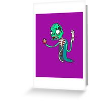 Carnihell #6 green saw man Greeting Card