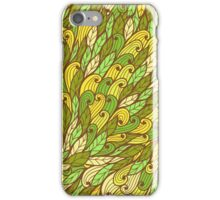 Green and yellow hand drawn doodle pattern iPhone Case/Skin