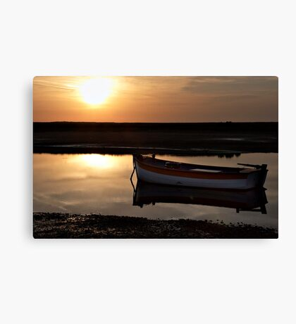 Sunset at Burnham Overy Staithe, Norfolk, UK Canvas Print