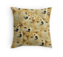Too Much Doge Throw Pillow