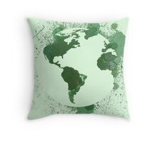 Artistic Earth Day Throw Pillow