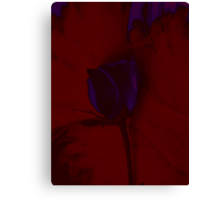 Purple Rose on Red Background Creative Art Canvas Print