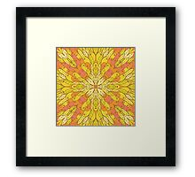 Yellow and green floral ornament Framed Print