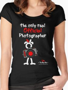 Red - The New Guy - The only real Official Photographer Women's Fitted Scoop T-Shirt