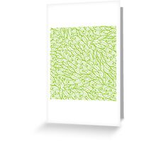 Green hand drawn doodle pattern Greeting Card