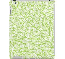 Green hand drawn doodle pattern iPad Case/Skin