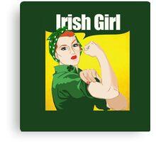 Rosie Riveter Irish Girl Canvas Print