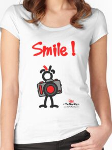 Red - The New Guy - Smile ! Women's Fitted Scoop T-Shirt