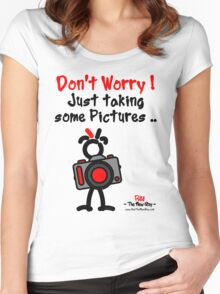 Red - The New Guy - Don't Worry ! Just taking some pictures .. Women's Fitted Scoop T-Shirt