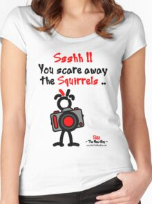 Red - The New Guy - Ssshh!! You scare away the Squirrels .. Women's Fitted Scoop T-Shirt