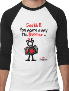 Red - The New Guy - Ssshh!! You scare away the Bunnies .. Men's Baseball ¾ T-Shirt