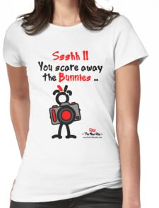 Red - The New Guy - Ssshh!! You scare away the Bunnies .. Womens Fitted T-Shirt