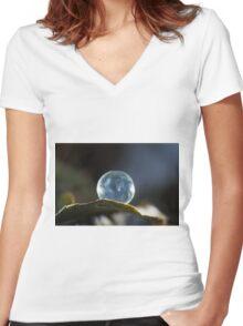 Frozen Balance  Women's Fitted V-Neck T-Shirt