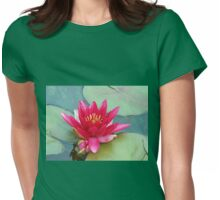 Dreaming Away The Summer - Reddish-Pink Water Lily Womens Fitted T-Shirt