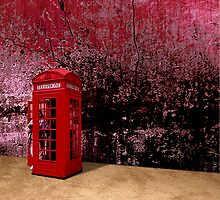 RED PHONEBOOTH by Paul Quixote Alleyne