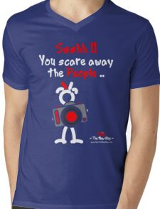 Red - The New Guy - Ssshh!! You scare away the People .. Mens V-Neck T-Shirt