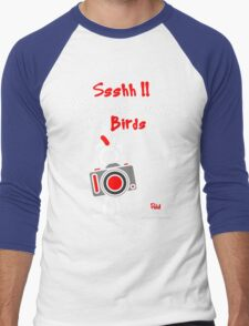 Red - The New Guy - Ssshh!! You scare away the Birds .. Men's Baseball ¾ T-Shirt