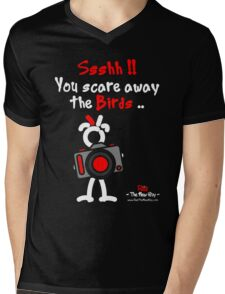 Red - The New Guy - Ssshh!! You scare away the Birds .. Mens V-Neck T-Shirt