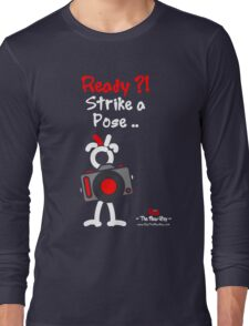 Red - The New Guy - Ready ?! Strike a Pose .. Long Sleeve T-Shirt
