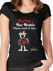 Red - The New Guy - Wanted : New Models .. Women's Fitted Scoop T-Shirt