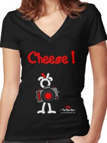 Red - The New Guy - Cheese ! Women's Fitted V-Neck T-Shirt