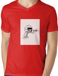 Space Man Spiff Mens V-Neck T-Shirt