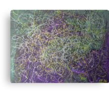 """Entanglement"" original abstract artwork by Laura Tozer Canvas Print"