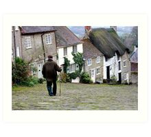 Gold Hill, Shaftesbury Art Print