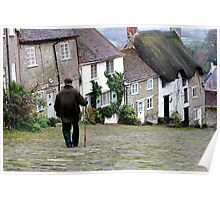 Gold Hill, Shaftesbury Poster