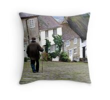 Gold Hill, Shaftesbury Throw Pillow